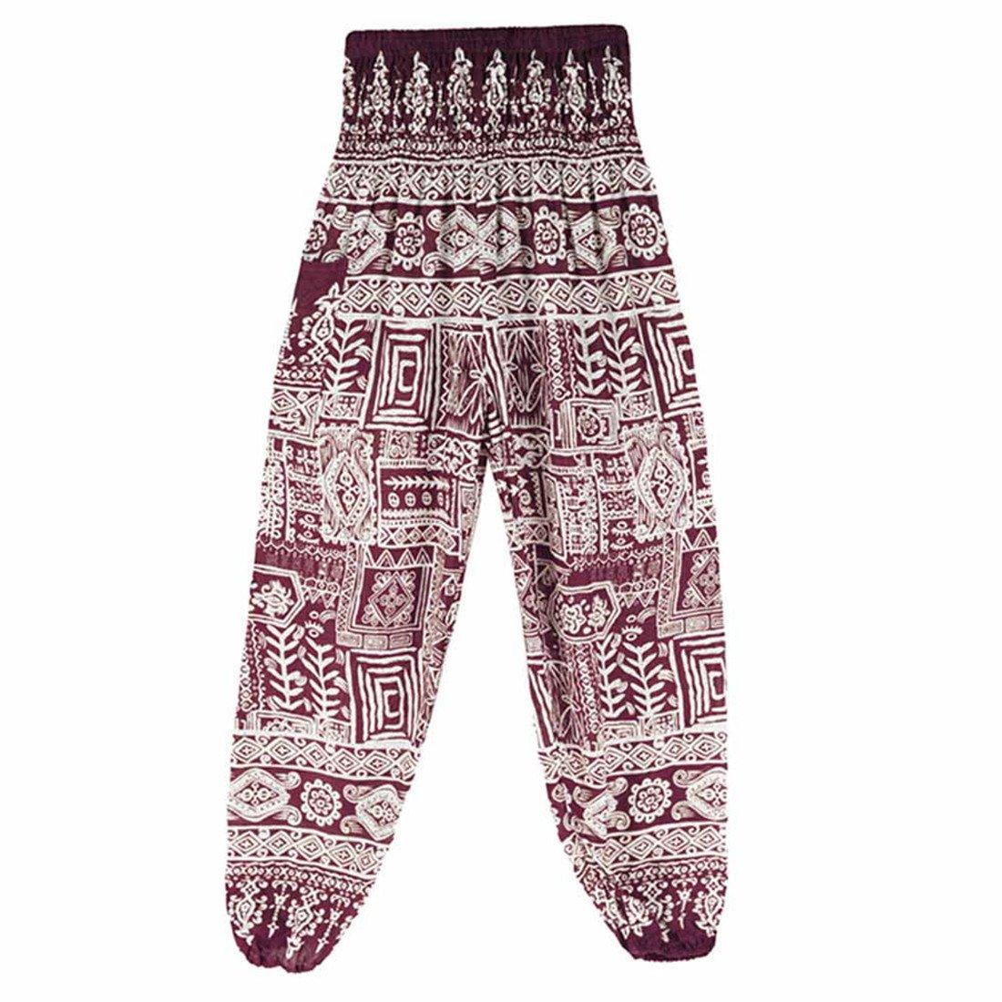 9d36bbe2a2e28f Womens Yoga Pants,YKA,Men Thai Harem Trousers Boho Festival Hippy Smock  High Waist Pants for Ladies - Purple - Free Size: Amazon.co.uk: Clothing