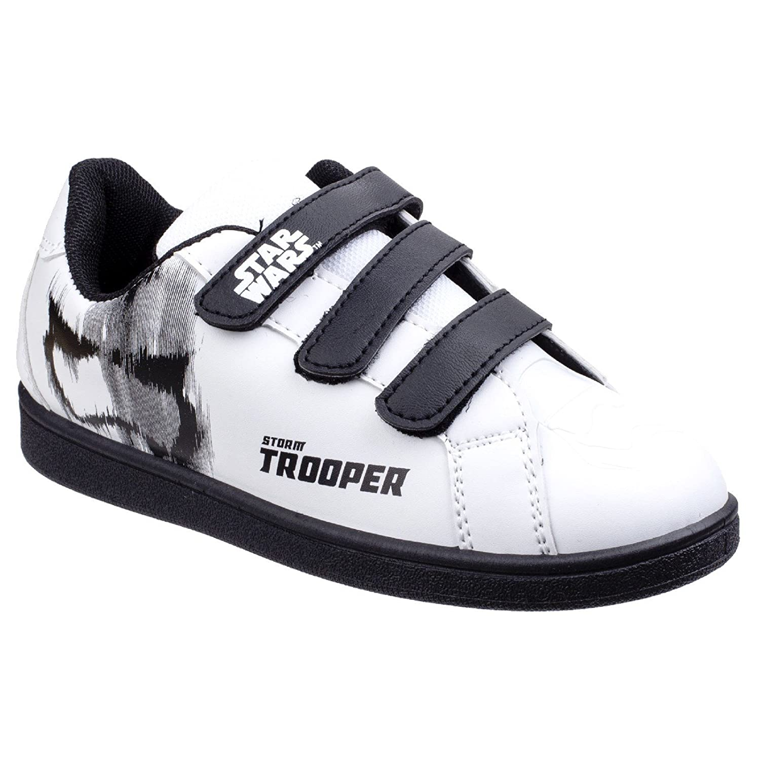 Star Wars Sneakers >> Amazon Com Star Wars Childrens Boys Stormtrooper Trainers