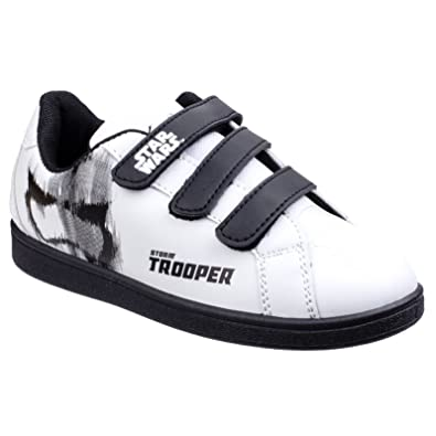 Star Wars Sneakers >> Amazon Com Star Wars Childrens Boys Stormtrooper Trainers Sneakers