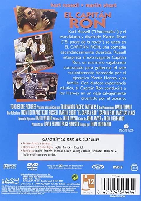Capitan Ron [DVD]: Amazon.es: Kurt Russell, Martin Short ...