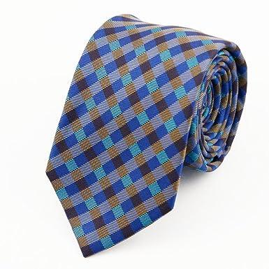 DW&HX Clásica cuadros corbata Corbata para hombre, Formal fiesta ...