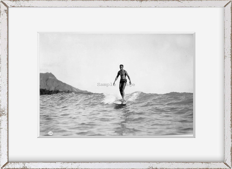 Hawaii Honolulu Historic Photos c1929 Photo Man Riding Wave on Surfboard The Surf Rider Vi g4