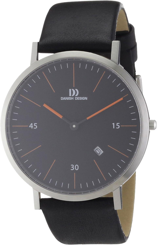 Danish Design 3314381 - Reloj analógico de Cuarzo para Hombre con Correa de Piel, Color Negro