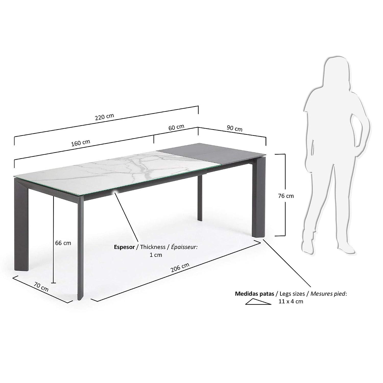 Kave Grès Axis Finition Home 160220Cm Cérame Table Extensible jL53AR4