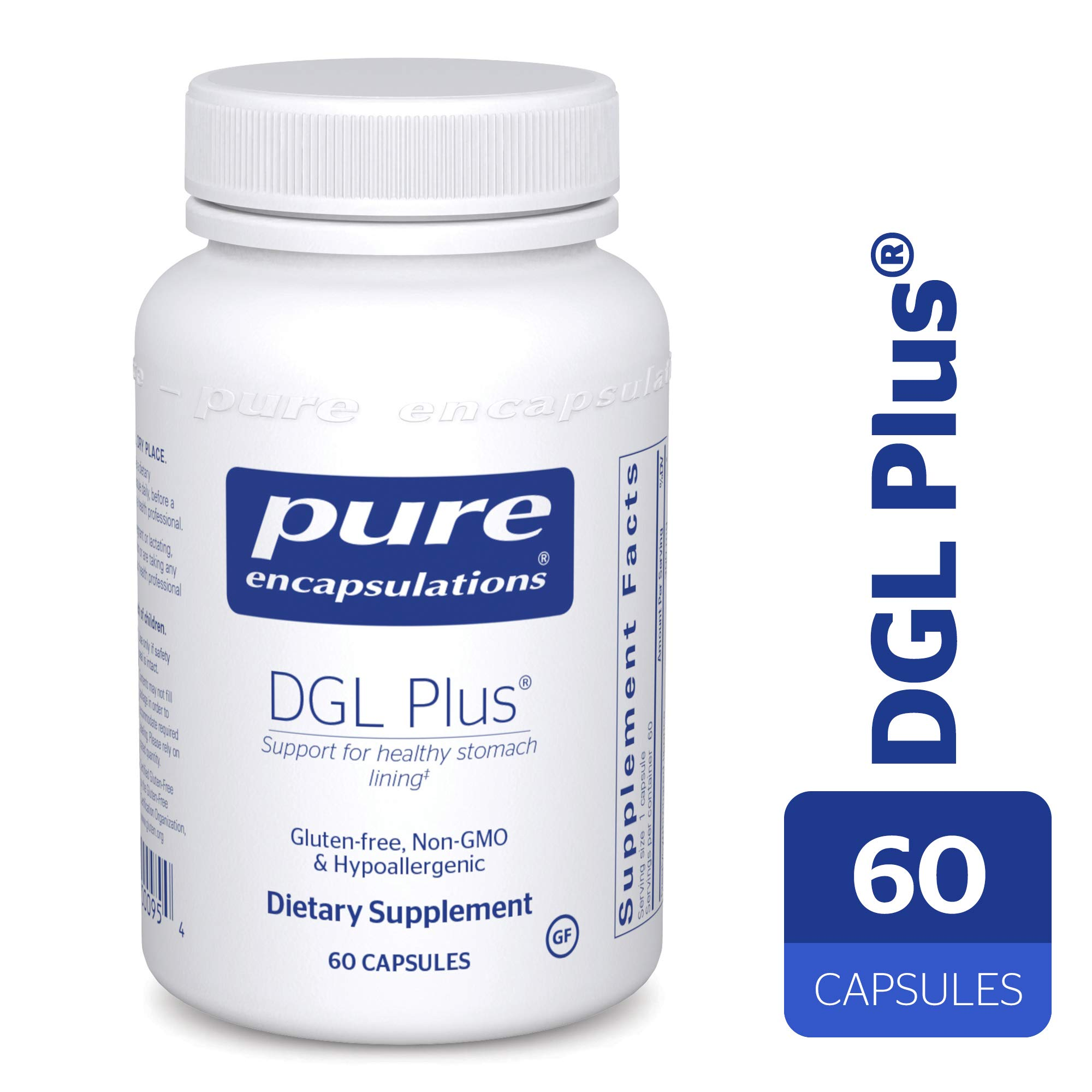 Pure Encapsulations - DGL Plus - Herbal Support for The Gastrointestinal Tract* - 60 Capsules by Pure Encapsulations