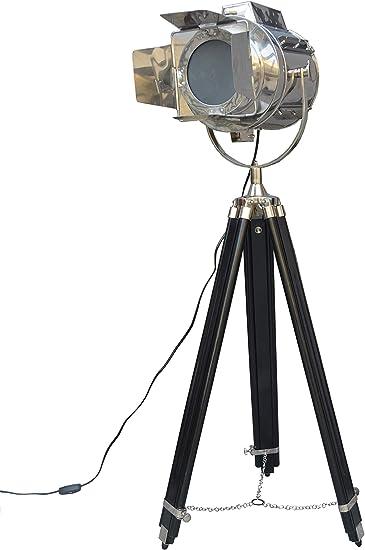 Fotografía cromo lámpara de pie Studio foco Spot Luz Soporte Del TríPode negro: Amazon.es: Bricolaje y herramientas