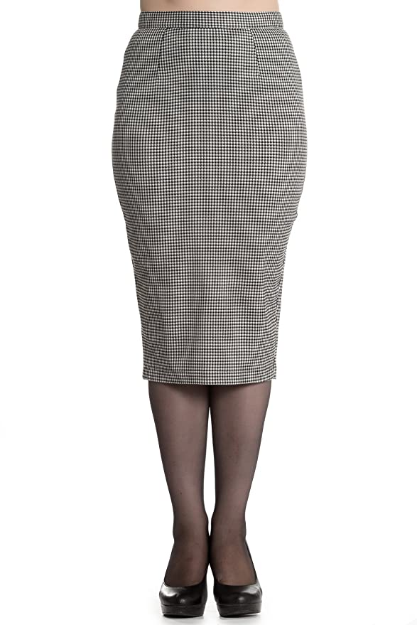 1950s Skirts for Sale: Poodle, Pencil, and Circle Skirts Hell Bunny Jackson Vintage Style Dogtooth Pencil Skirt (Black & White) $39.99 AT vintagedancer.com