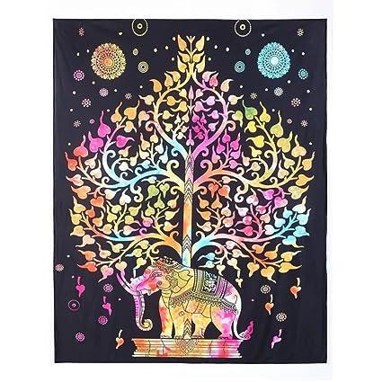 Amazon Com Holy Home Tapestry Indian Mandala Handcrafts Buddha Bo