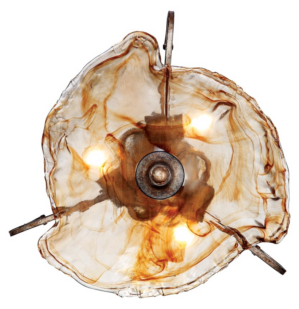 Amber scroll art glass 20 14 wide ceiling light fixture amber scroll art glass 20 14 wide ceiling light fixture ceiling pendant fixtures amazon mozeypictures Images