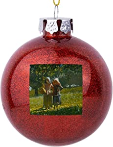 VinMea Christmas Ball Ornament Apple Picking Shatterproof Xmas Tree Decorations Holiday Wedding Home Party Ornaments, Red