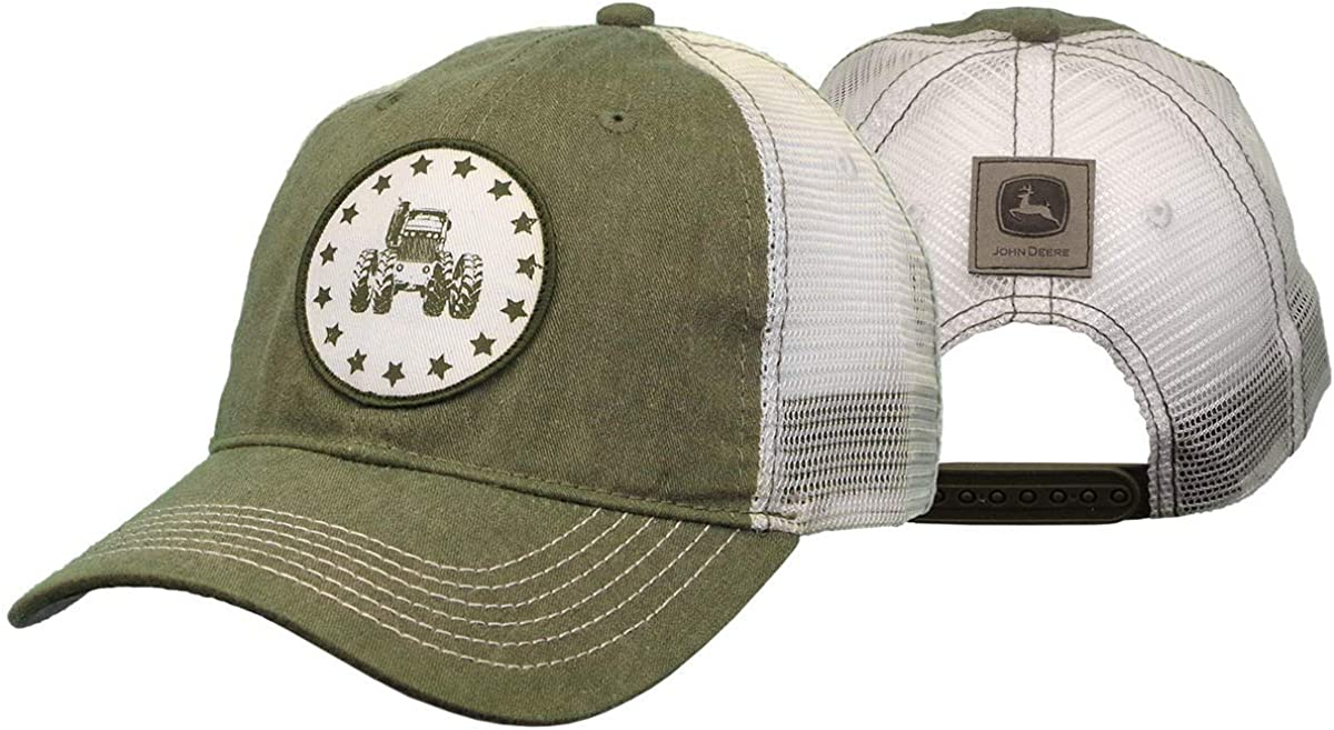 John Deere 6 Panel Cap & Mesh, Unstruct-White-Os: Amazon.es: Ropa ...