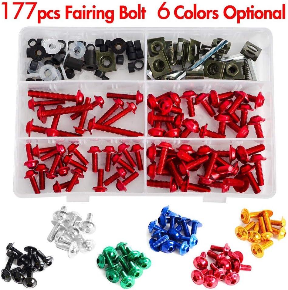 ShineBear Fittings Complete CNC Fairing Bolts Kit Bodywork Screws Nut for Kawasaki Ninja 250R 300 500 500R KLR250 KLR650