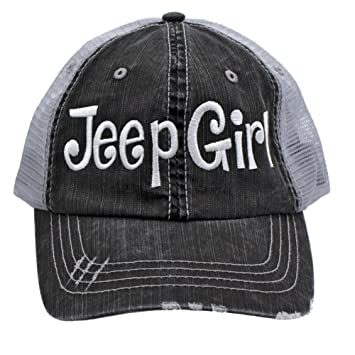 Image Unavailable. Image not available for. Color  Jeep Girl Embroidered  Trucker Style Cap Hat ... e9dadfbeb2ec
