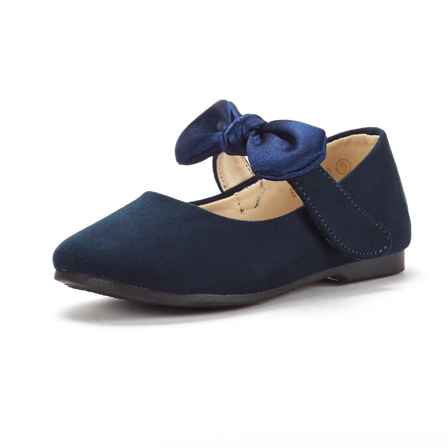 DREAM PAIRS Toddler Belle_02 Navy Girl's Mary Jane Ballerina Flat Shoes Size 7 M US Toddler