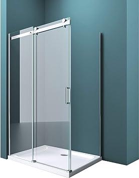 Mampara de ducha cabina ravenna17 de vidrio de seguridad de 8 mm ...