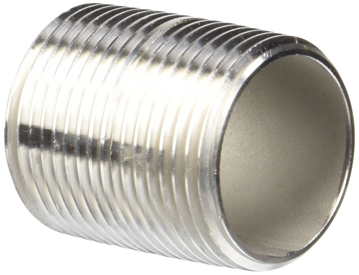 Merit Brass 4016-001 Stainless Steel 304/304L Pipe Fitting Close Nipple Schedule 40 Welded 1  NPT Male 1-1/2  Length (Pack of 25) Amazon.com ...  sc 1 st  Amazon.com & Merit Brass 4016-001 Stainless Steel 304/304L Pipe Fitting Close ...