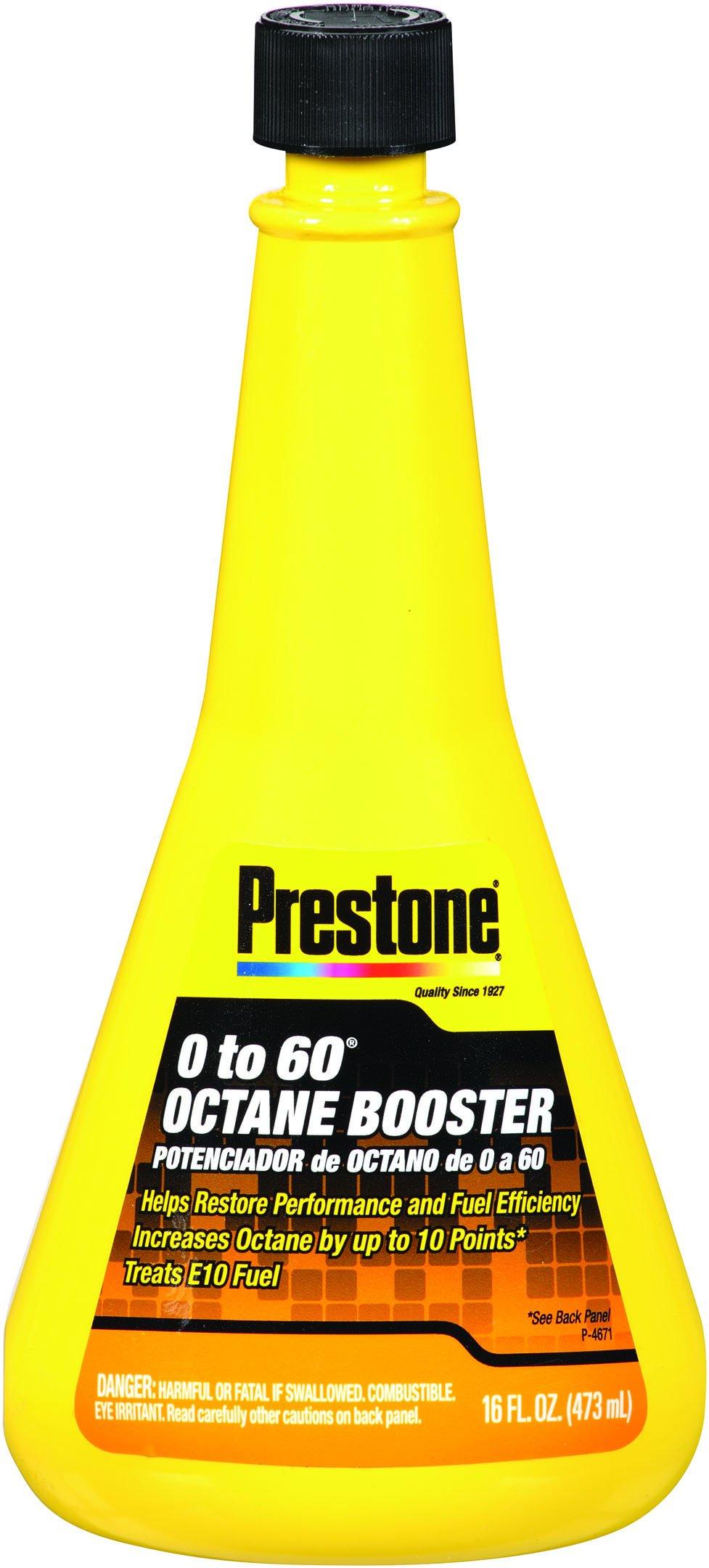 Prestone AS740-6PK 0-60 Octane Booster - 16 oz, (Pack of 6) by Prestone