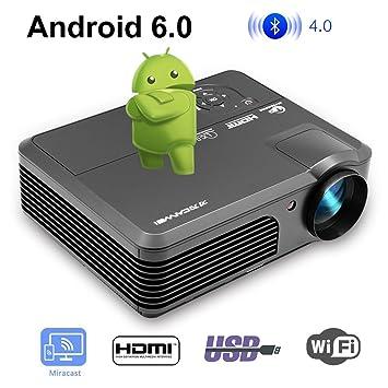WiFi Proyector de video Bluetooth Inalámbrico LED 4200 lúmenes ...