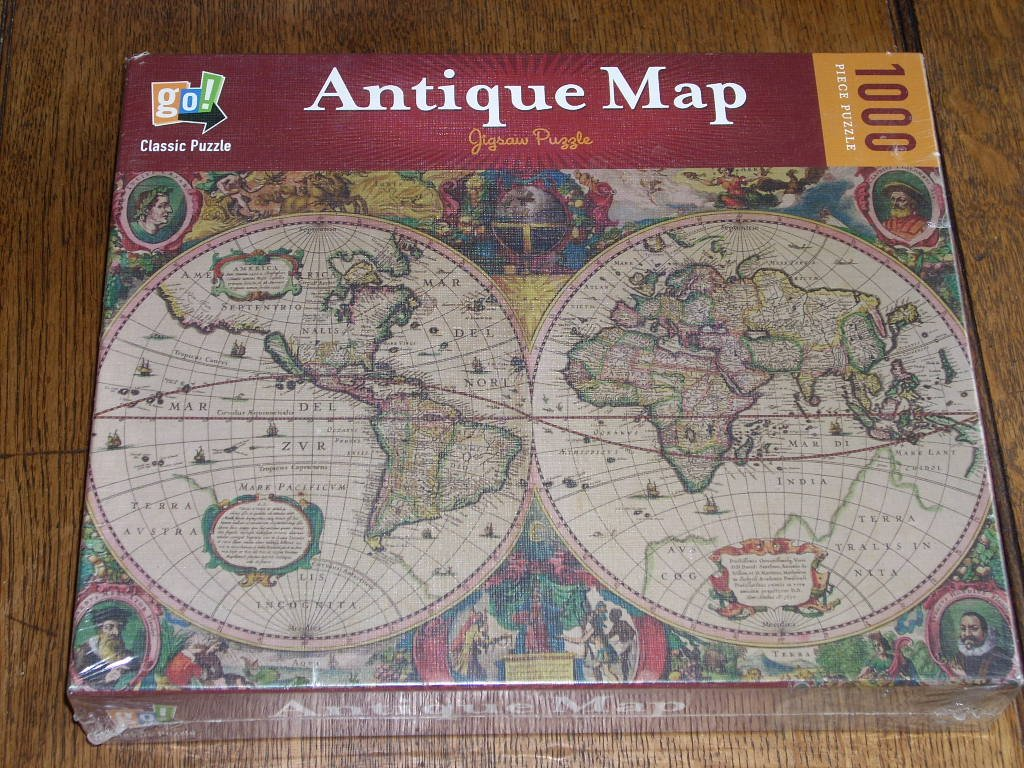 Amazon antique world map 1000 piece puzzle go games toys games gumiabroncs Images