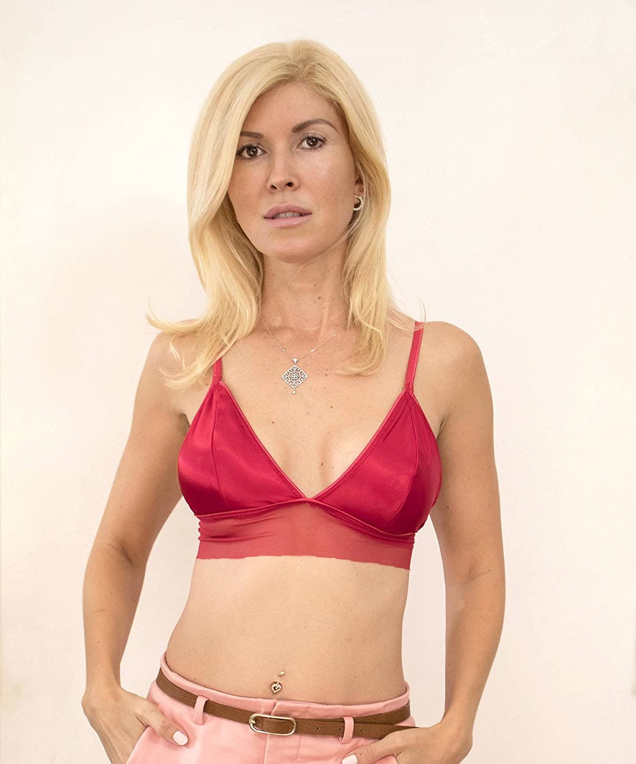 Red Silk Satin Bralette. Red Satin Bra. Silk Lingerie. Silk Underwear. Bra. Red Lingeire