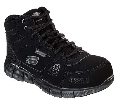 e9c27885cb15 Skechers Work Telfin Penticton ESD Alloy Safety Toe Mens High Top Sneakers  Black 8