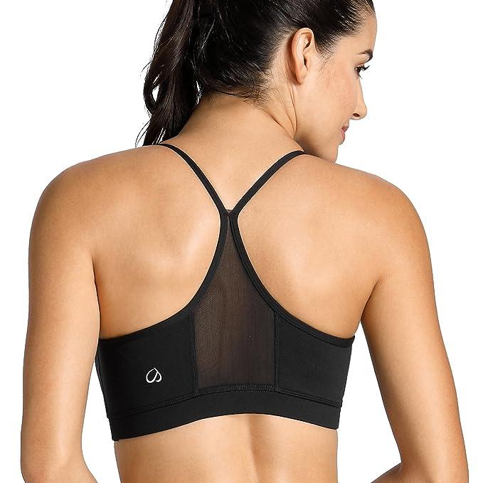 CRZ YOGA - Sujetador Deportivo con Relleno Desmontable Ropa Top para Mujer: Amazon.es: Ropa y accesorios