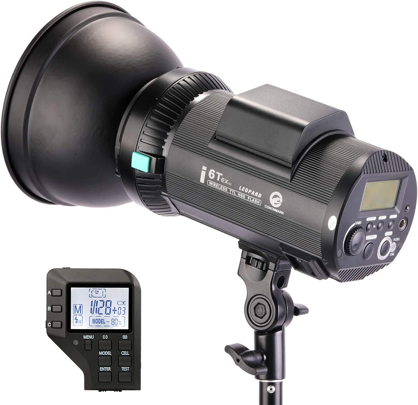 Neewer i6T EX 600W 2.4G TTL Studio Strobe 1/8000 HSS Flash Monolight Compatible with Nikon, Wireless Trigger/Modeling Lamp/Recycle in 0.2-1 Sec/Lithium Battery(400 Full Power Flashes)/Bowens Mount