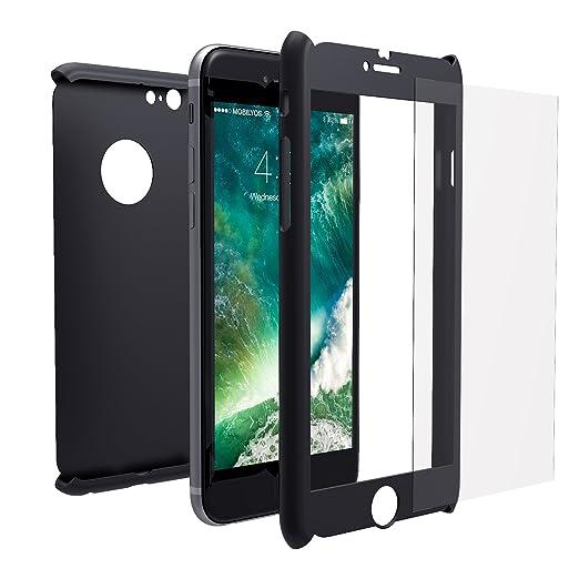 53 opinioni per Cover iPhone 6s PLUS / 6 PLUS 360 Gradi + Pellicola Vetro Temperato, Mobilyos® [