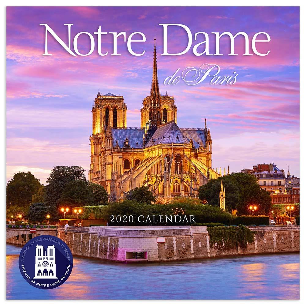 Notre Dame Calendar 2020 2020 Notre Dame de Paris Wall Calendar: TF Publishing
