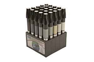The Original Chartpak AD Markers, Tri-Nib, 25 Assorted Warm/Cool Grey Colors in Tabletop Cube, 1 Each (E)