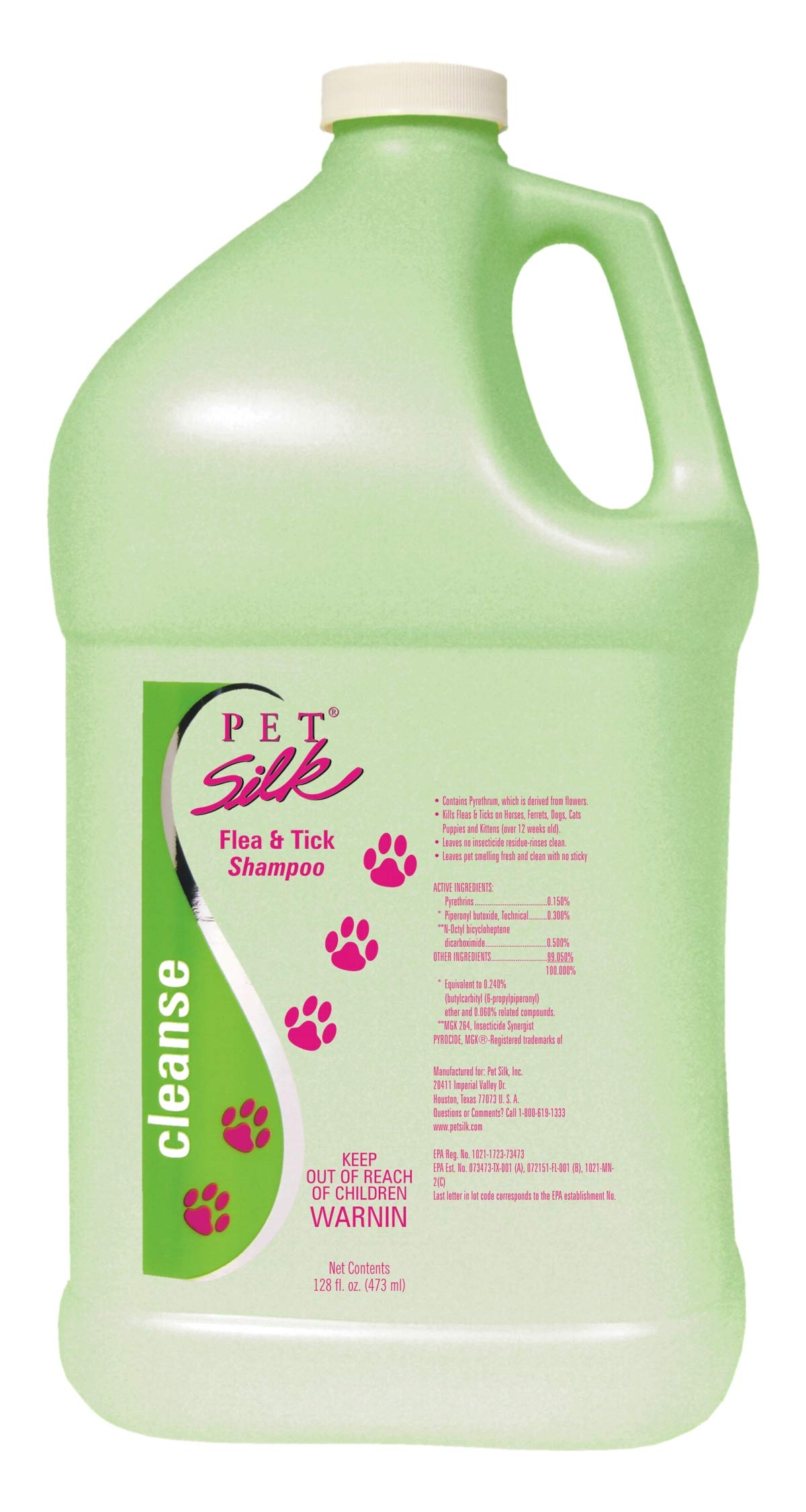 PET SILK Flea and Tick Shampoo by PET SILK