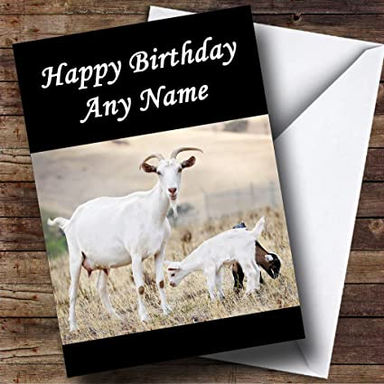 Amazoncom Goat Baby Personalized Birthday Greetings Card