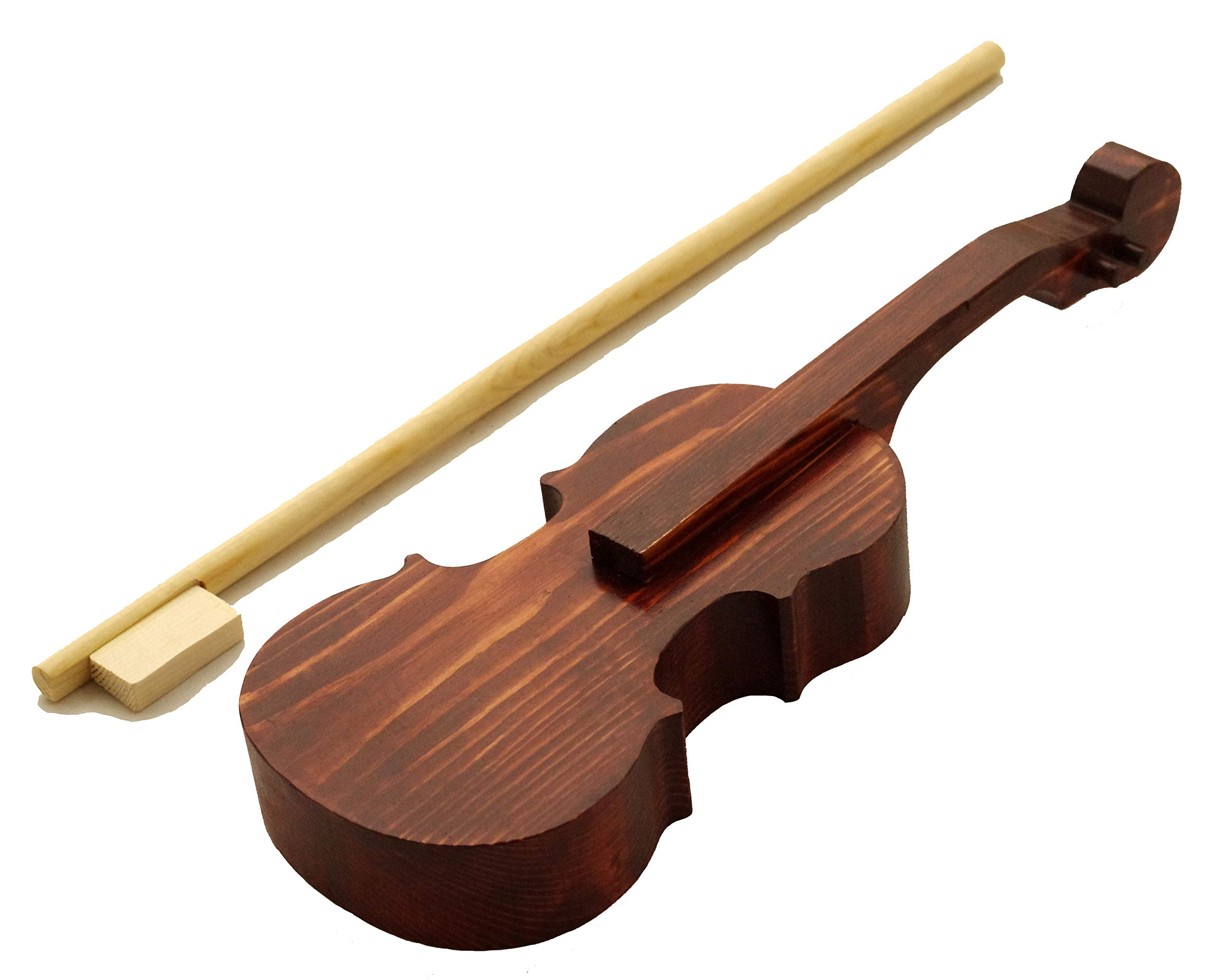 Box Violin with Bow for Pre-Twinkle Study, Practice Violin (1/32nd)