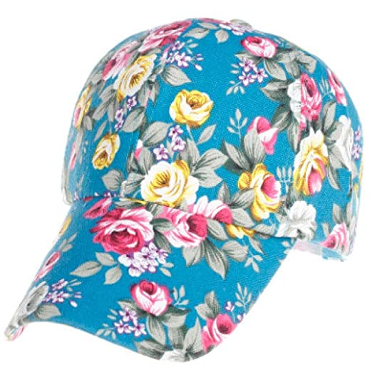 19f21950367 Kintaz Women Fashion Floral Print Adjustable Casual Snapback Baseball Cap  Hat (Green)