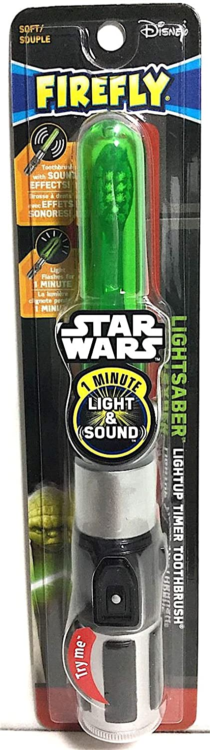 Amazon.com: Firefly Star Wars Yoda Lightsaber Light-Up Talking Timer Toothbrush: Beauty