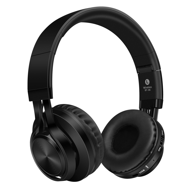 Darkiron Bluetooth Auriculares micrófono incorporado Auricular inalámbrico con tarjeta TF de radio FM y Extra Cable de audio para la mayoría de los ...