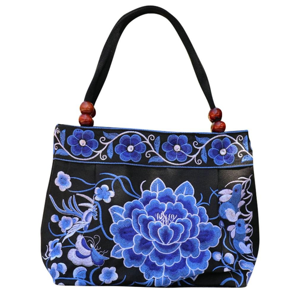 Beatie Vintage Stickerei tasche Boho Hobo Hmong Ethnische Shopper Tasche frauen schulter umhängetasche Bestickte handtasche