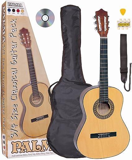 Palma PL34OFT Concert juego de guitarra 3/4 tamaño con bolsa ...