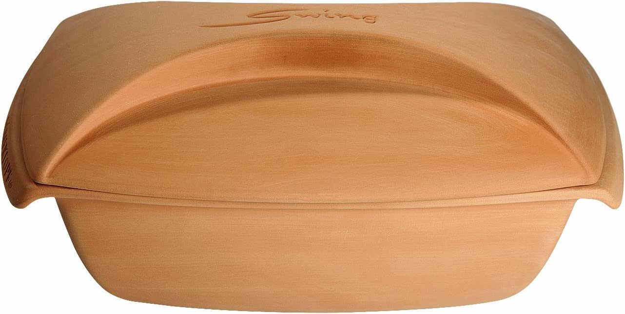 Romertopf 99213 Glazed Clay Cooker Made in Germany, Swing Large