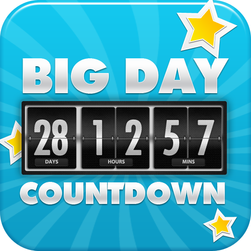 Big Days of Our Lives Countdown - Digital Event Count Down Clock with HD full screen background (for counting how many days and time to go, until your dream dates) (Countdown To Halloween Widget)