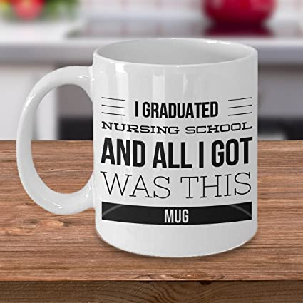 Image Unavailable. Image not available for. Color Nurse Graduation Gift ... & Amazon.com: Nurse Graduation Gift - Nurse Coffee Mug - I Graduated ...