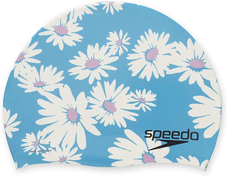Speedo - Gorro de natación unisex para adultos - USXSILICONECAPA, Gorro de natación de silicona, Talla única, Azul / blanco/ rosa: Amazon.es: Deportes y aire libre
