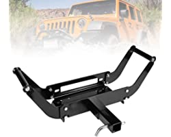 Liteway Universal Winch Cradle Mounting Plate - Winch Mount Bracket for Recovery Winches