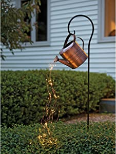Realdo Star Type Shower, Garden Art Light Decoration Outdoor Lawn Lamp Watering Can Sprinkles with Fairy Light Ornaments