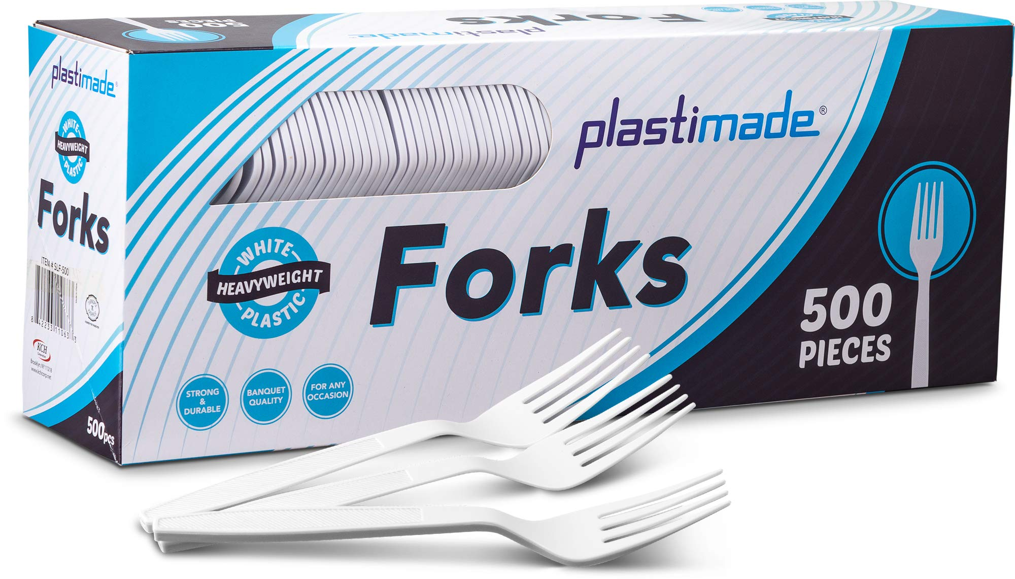[500 Teaspoons] Plastimade White Disposable Extra Heavyweight Plastic Spoon, Ideal For Wedding, Catering, Parties, Buffets, Events, Or Everyday Use, 1 Pack by Plastimade