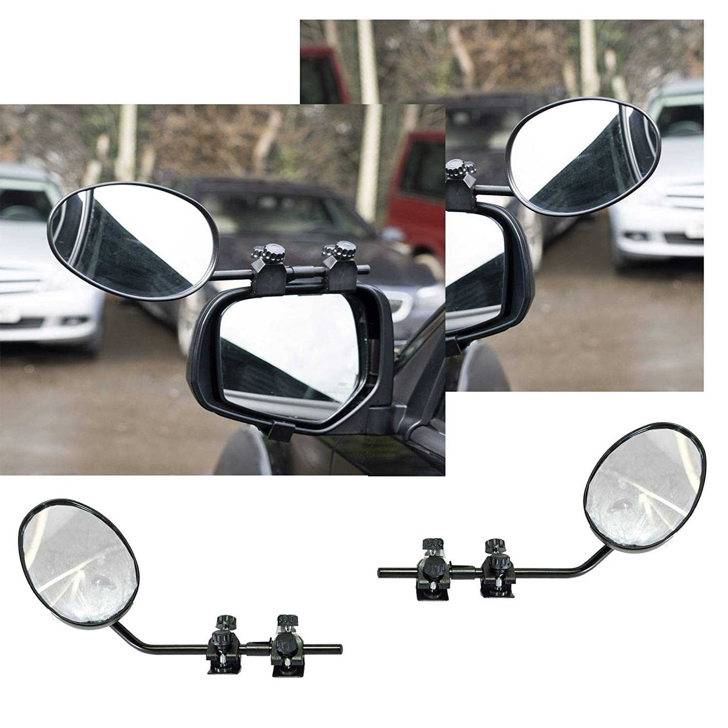 UKB4C Pair of Convex Caravan Car Extension Towing Mirrors fits 3 4 5 6 7 Series X3 X4 X5 X6 X7