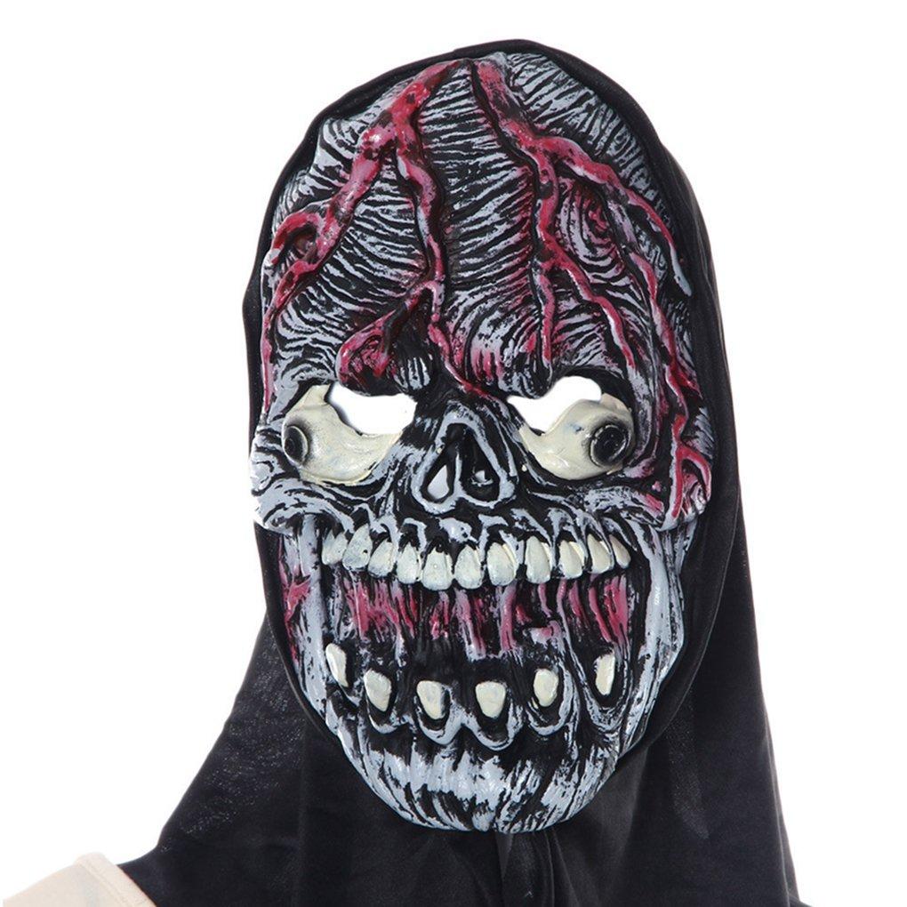 Máscara de Halloween, hatop fiesta máscara Cosplay máscara de Halloween calabaza espantapájaros Terror máscara máscara de cabeza: Amazon.es: Belleza