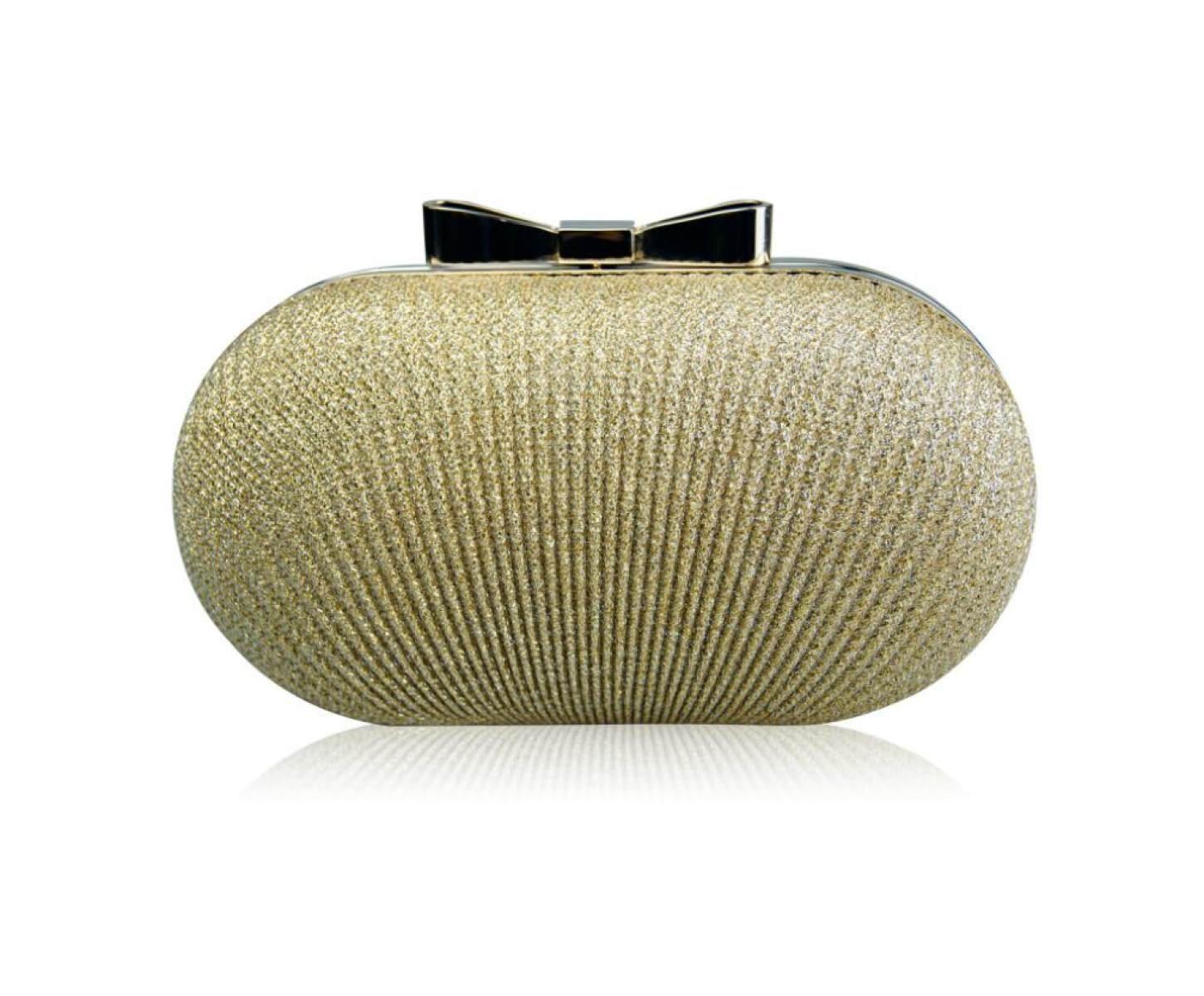 GSHGA Womens Clutch Taschen Mode Falten Abendtasche Box Schulter Messenger Bag, Black