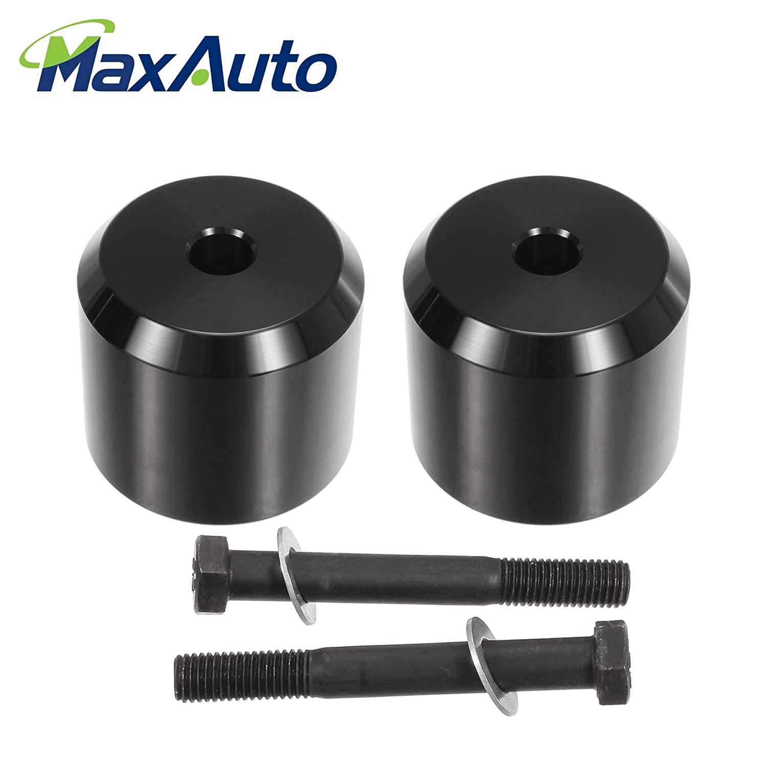 MaxAuto Suspensions Leveling Kit, 2' Front Leveling Lift Kit Struts Spacers Compatible 2005 2006 2007 2008 2009 2010 2011 2012 2013 2014 2015 2016 2017 Ford F-250 F-350 Super Duty 4WD PartsSquare