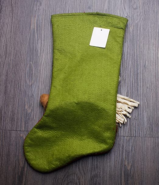 Navidad medias, zojoro 18 cm elegante Santa Claus bolsas de regalo 3d calcetines bonito Festival de Navidad medias de Navidad accesorios: Amazon.es: Hogar